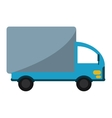 truck mini delivery cargo with shadow vector image