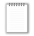 Vertical notebook vector image