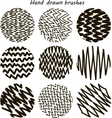 Zigzag Paint Brush Set vector image