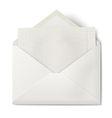 Opened envelope with sheet of squared paper inside vector image