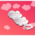 clouds login page vector image