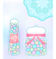 Pastel candy jar vector image