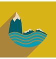 Flat web icon with long shadow sea cliffs vector image