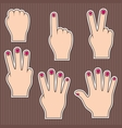 Fingers show numbers vector image vector image