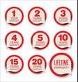 guarantee stickers red design collection vector image