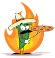 Hot chilli cartoon vector image vector image