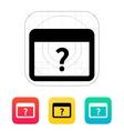 FAQ application icon vector image