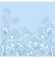 floral background blue vector image vector image