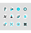 Set of grey and blue icons vector image
