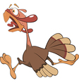 turkey cartoon vector image vector image