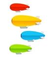 Airship colorful set vector image vector image