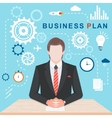 Flat Illlustration Business Plan vector image