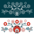 Folk Design With Flower-2 vector image