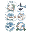 fish chub vector image