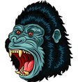 Cartoon of Angry gorilla head character isolated vector image vector image