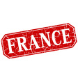 France red square grunge retro style sign vector image