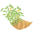 abundance of money vector image