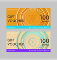 gift voucher template with modern circle design vector image