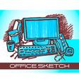 office sketch vector image