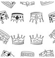 pattern of various crown hand draw vector image