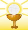 first Communion Eucharist 2 vector image