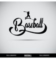 Baseball hand lettering - handmade calligraphy vector image vector image
