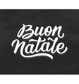Buon Natale lettering Merry Christmas in italian vector image
