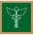 Caduceus medical symbol vector image