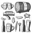 vintage beer elements collection vector image