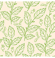 seamless pattern with green branches vector image vector image