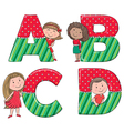 Alphabet kids ABCD vector image vector image