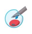 Artificial insemination cartoon icon vector image