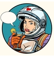love woman cosmonaut cocktail vector image