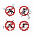 Seth mosquito warning sign vector image