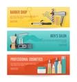 Beauty Studio Horizontal Banners Set vector image
