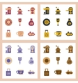 assembly flat icons coffee vector image