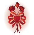 bunch of roses vector image