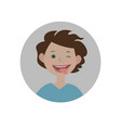 eyewink with tongue emoticon silly expression vector image