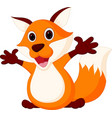 happy fox cartoon vector image