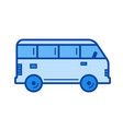 minivan line icon vector image