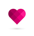 Mosaic heart symbol logo icon vector image