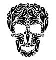 Ornate tattoo skull vector image