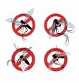 Seth mosquito warning sign vector image