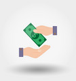 transfer money from hand to hand vector image