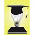 light of graduation vector image vector image