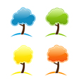 Four seasonal icons with tree vector image vector image
