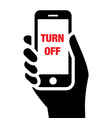 Turn off mobile phones icon vector image