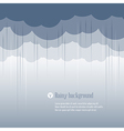 Clouds rainy vector image