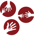 kids hands together vector image vector image