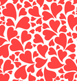 simple hearts pattern vector image vector image